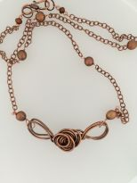 Copper Knotted Pendent $50.00