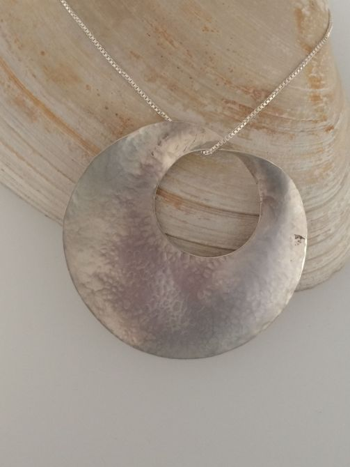 Lrg Sterling Silver Disc $150.00