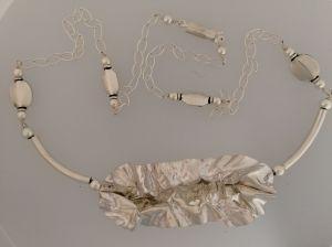 Sterling silver fold form necklace